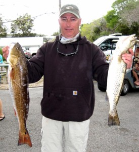 Greg Hause from Alachua with part of his excellent catch.