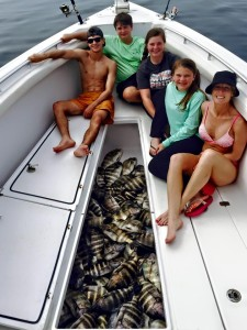 The Hedgecock crew found lots of sheepshead as well.