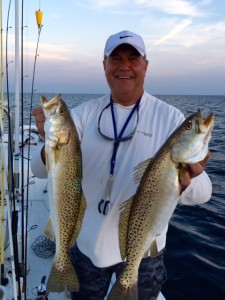 Max Leatherwood, the trout master, with two nice examples….