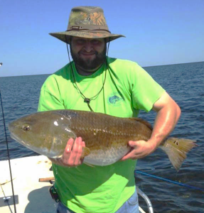 Phil Worley from Cordele, Ga found this hefty redfish.