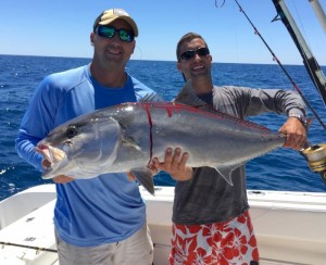 Sean Campbell and Danny Shore from Gainesville with a giant amberjack.
