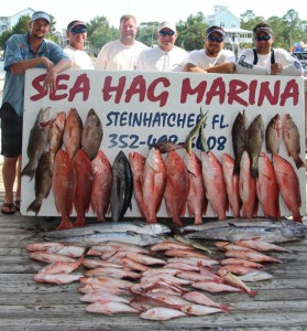 Michael Lodge's crew took advantage of the red snapper season and returned with this full board of offshore fish.