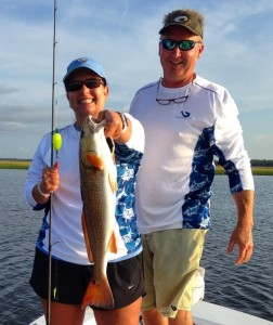 Bryan Fletcher and Sonya Smith with her first redfish!