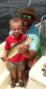Jeb and Garret Dasher found this trout….a rarity this month.