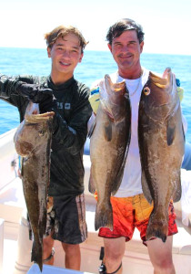 Getting wet is the best way to find big grouper this time of year….ask Chase and Charlie Norwood about spearfishing.