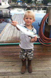 Colby Snyder and his dad Derek found some Spanish mackerel near some schools of bait.
