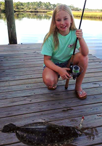 Hannah Branch and her first flounder!