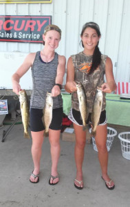 Jaye Carter and Hailey Raulerson, Lady Raiders softball players, fished the fundraising tournament for their team and found these great trout.