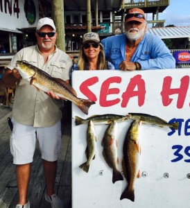 Marianne Moblet and Clint Wilson fished with Sea Hag legend Judge Reiman and found these nice reds and trout.