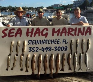 One picture from the Mulkey Enterprises group that fished for a number of days and caught lots of fish.