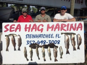 Airboat masters Bill and Kenny Rees gave Cody Hayes a ride and came back with this board full of great eating.
