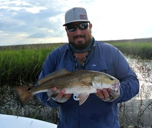 Fabian Santos from Valdosta with a beautiful creek redfish.