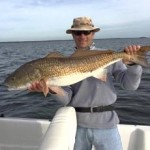 Todd Walker had to release this oversized redfish.