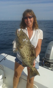 Captain Crystal with a late-season gag grouper.