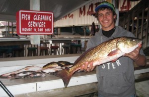 Brett Molzen from Bell brought in this upper-slot redfish for the table.