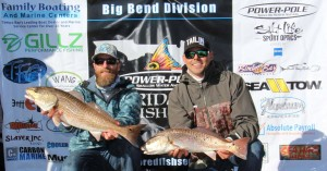 John Lannon and Matt Cowart with the winning pair of redfish in the Pro Series event.