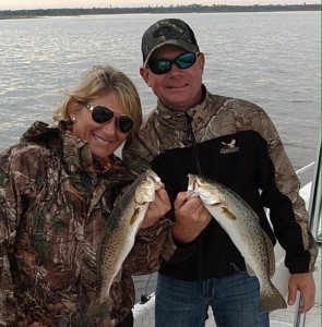 Kim Smith and Warren McGehee with a nice pair of trout.
