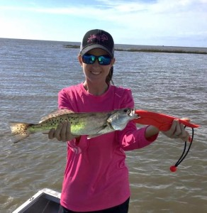Brittany Rhoden found this nice trout on the flats.