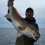 Chris Oliver with a beautiful overslot redfish.