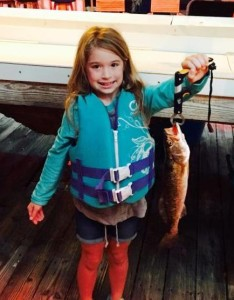 Julie Bailey caught her first trout this month!