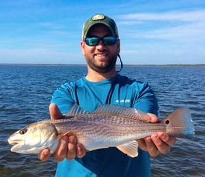 Rob McRae with a nice school-sized redfish.
