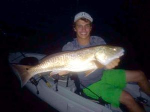 Brett Molzen went kayak fishing at night and found this overslot redfish.