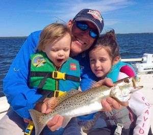 Mark Chupp's daughters were excited over this trout catch.