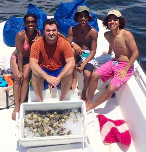 The O'Leary family had a great day scalloping