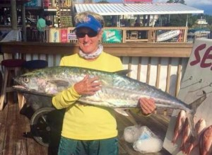 Becky Purser and her tournament kingfish