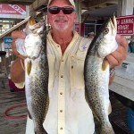Charlie Walters found these nice gator trout.