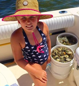 Mallory Bock from Palatka enjoyed her day of scalloping with a boat limit to show for it.