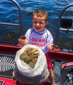 Warner Brown enjoyed his first scallop trip.