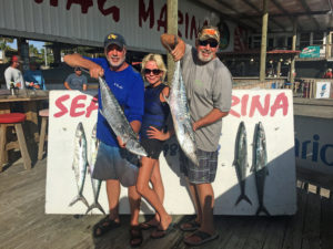 This group of folks from Atlanta tested their drags on these fine kingfish.