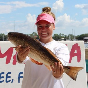 One of the Lady Raiders nailed this excellent redfish.