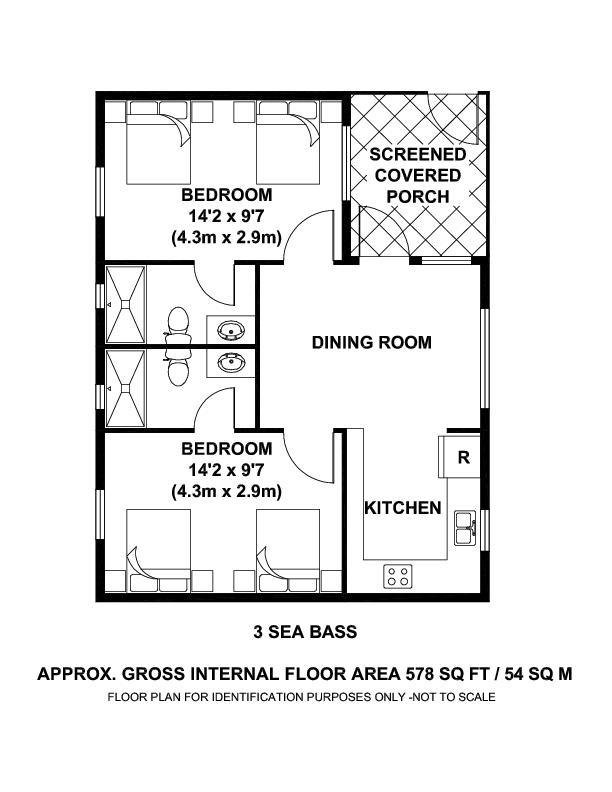 #3 Sea Bass Shack - Floor Plan