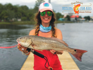 My buddy Melissa Macarages caught this redfish during the Reeling for Kids tournament.
